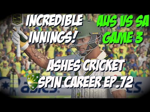 TEST MATCH GAME 3 AUS vs SA - Ashes Cricket - Spin Career ep. 72