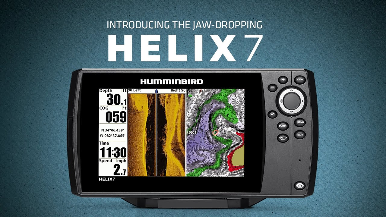 humminbird helix 7 side imaging unboxing first impressions - youtube, Fish Finder