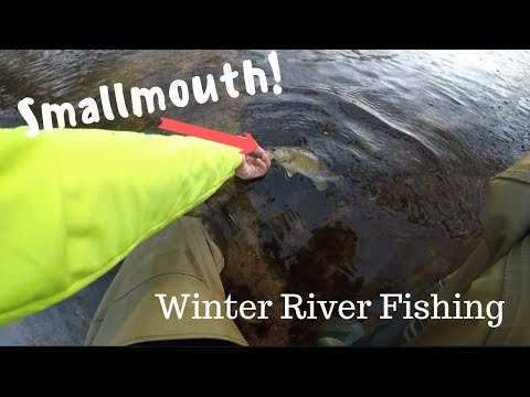 SMALLMOUTH! Bass And Crappie River Fishing In Winter, Maryland Smallmouth Bass Fishing W/Jerkbait