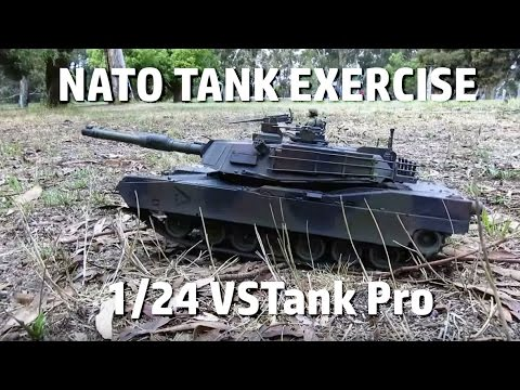 Leopard 2A5 and M1A2 Abrams - VSTank Pro 1/24 RC