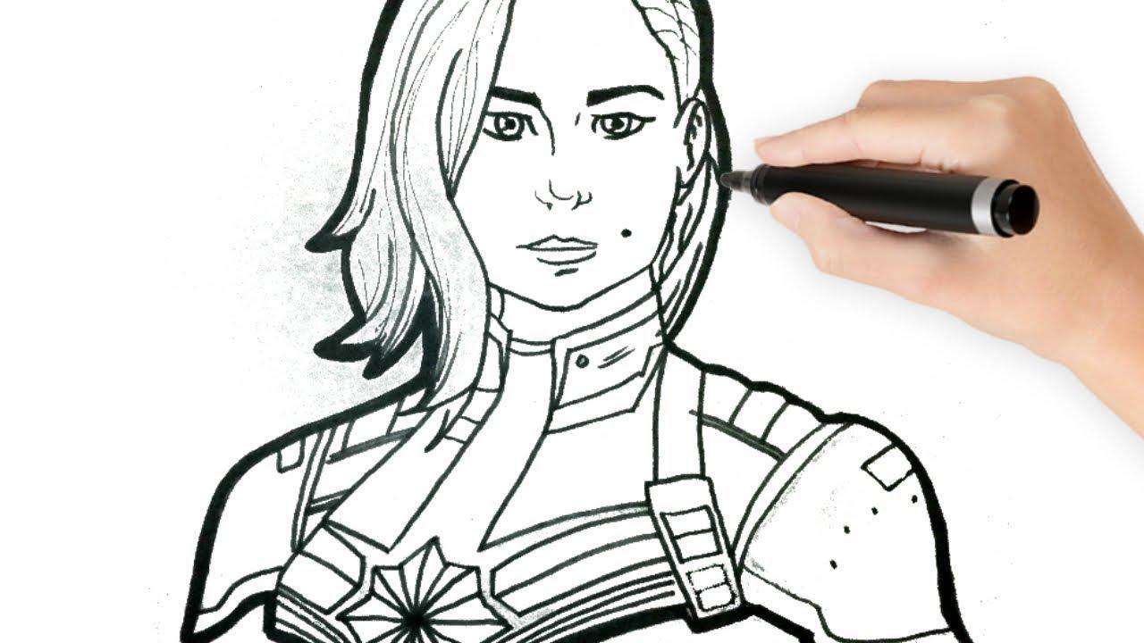 Como Dibujar A La Capitana Marvel Paso A Paso How To Draw