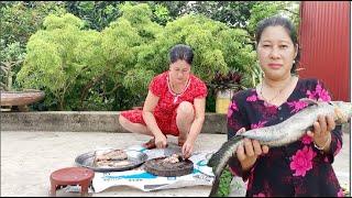 Ếch om chuối, Cá Chuối chiên -Thịt Trâu sáo khế ,Mâm cơm chuẩn bị giã từ