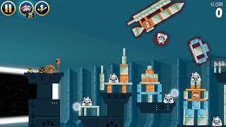 Прохождение Angry Birds Star Wars #4 [Звезда Смерти *2] (Легко-сложные уровни)