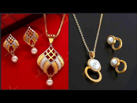 most pretty luxurious under 10 grams Gold earrings pendant chain designs