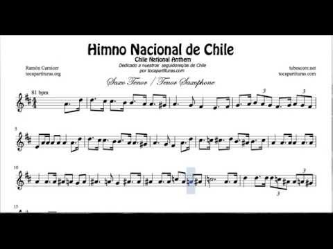 Chile National Anthem Sheet Music for Tenor Saxophone