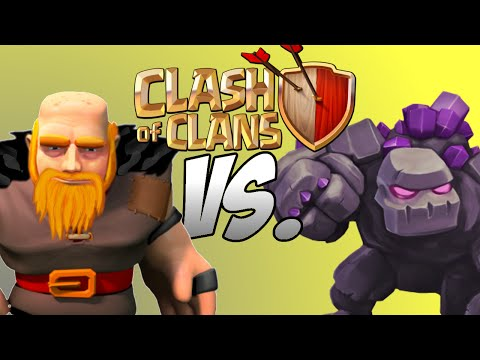 Clash of Clans Level 7 Giants VS Level 5 Golems (Which Troop is Better?) February 2015