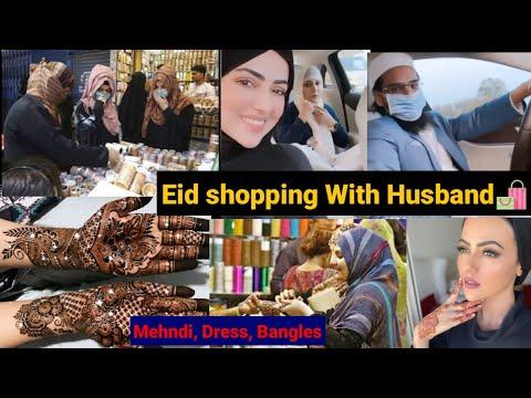Sana Khan Eid Shopping With Husband & Friend Eid Dress, Mehndi, Bangles Jewelry