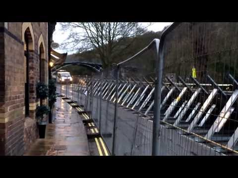 UK floods 2014 - Ironbridge Flood Defence System