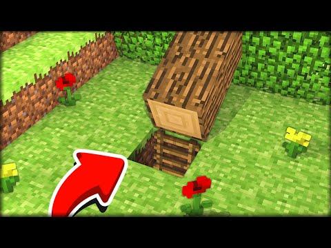 ТАЙНИК ПОД ДЕРЕВОМ! СЕКРЕТНЫЙ ПРОХОД в ЛЕСУ в МАЙНКРАФТ 100% троллинг ловушка Minecraft