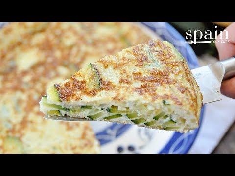 Spanish Tortilla With Zucchini & Onions - Tortilla De Calabacin Recipe