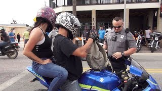 Cops (Police) VS Daytona Bikers | Daytona Bike Week 2019