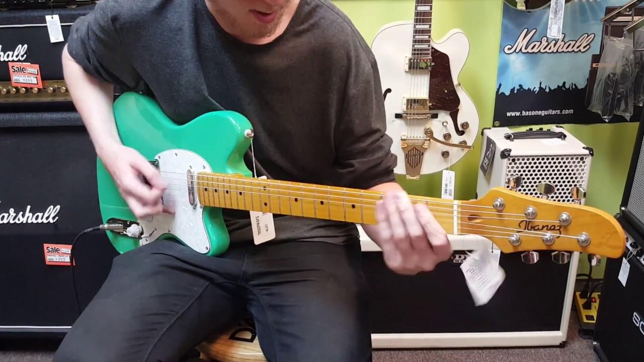 Ibanez Talman Seafoam Green Electric Guitar Demo At Basone Guitar