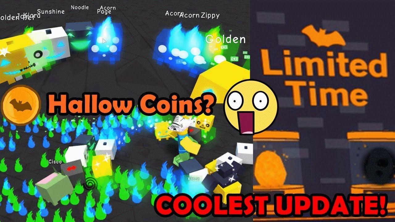 Halloween Update!! NEW Pets + Hallow Coins! Coolest Update - Pet Simulator