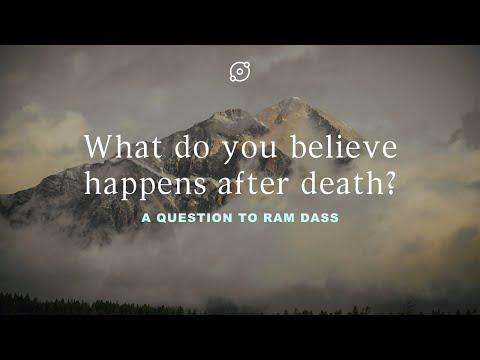 Video: Wat denk je dat er gebeurt na de dood? Een vraag aan Ram Dass