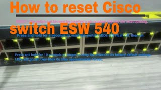 Cisco Switch Reset To Factory Defaults