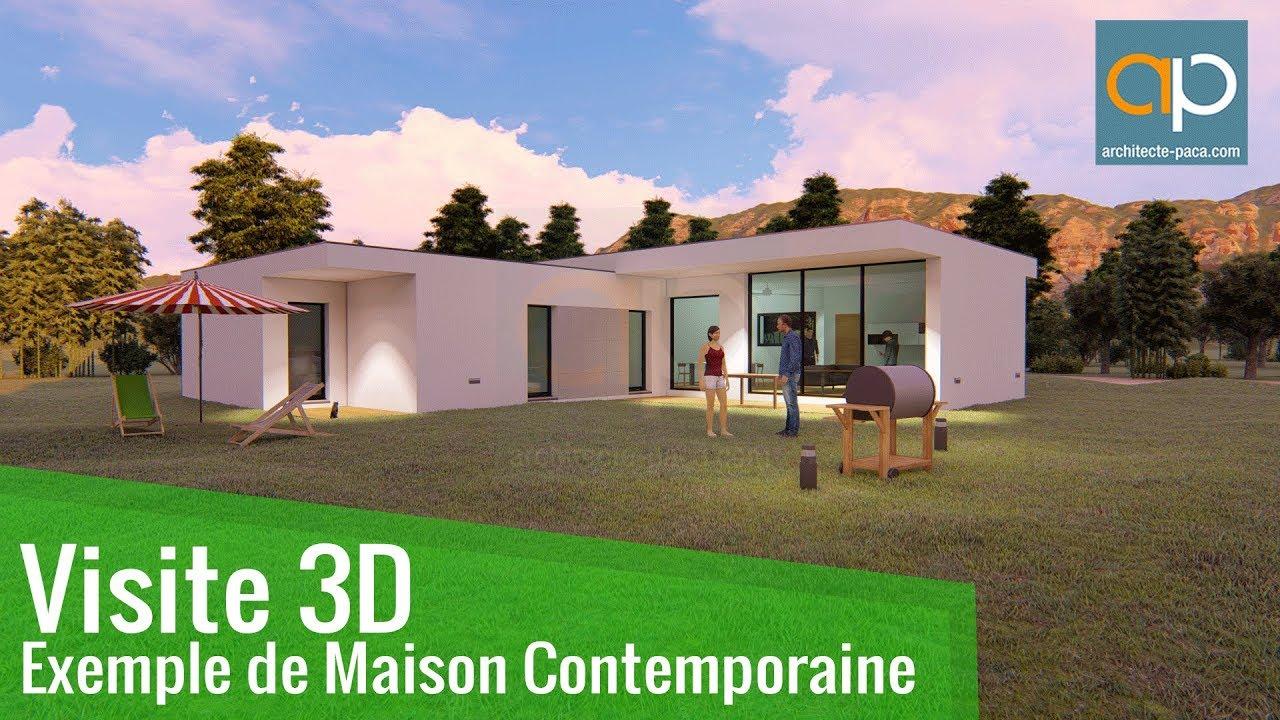 Plan de maison contemporaine 172 - Architecte-PACA.com - YouTube