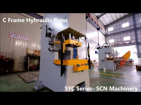 Stamping Process with C Frame Hydraulic Press 60tons - Universal joint