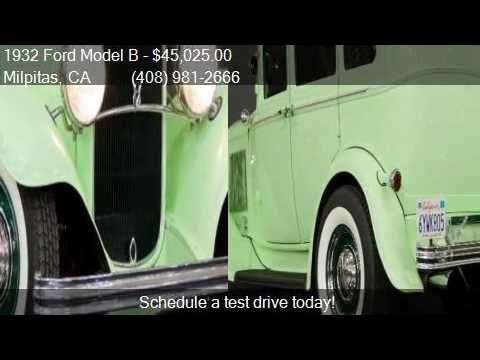 1932 Ford Model B  for sale in Milpitas, CA 95035 at NBS Aut