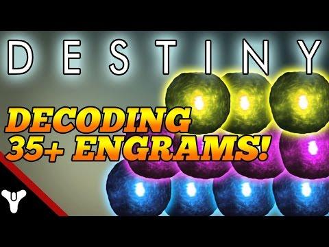 """Destiny: """"DECODING 35+ ENGRAMS!"""" Destiny Engram Destiny! (Destiny Gameplay)"""
