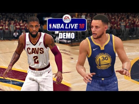 NBA Live 18 Demo Gameplay   Cleveland Cavaliers vs Golden State Warriors   1st Half + Halftime Show