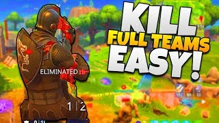 How to RUSH ENEMIES & KILL EVERYONE in Fortnite - Tips & Tricks [Fortnite: Battle Royale] Gameplay