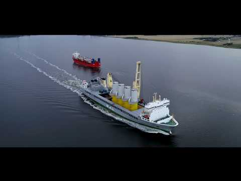 SAL: MV Lone, loading transition pieces for offshore wind farm