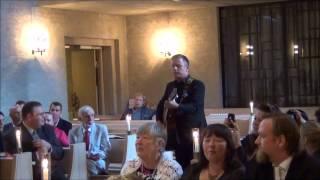 Jan Johansen överaskar gästerna på vårat bröllop 2012-09-08