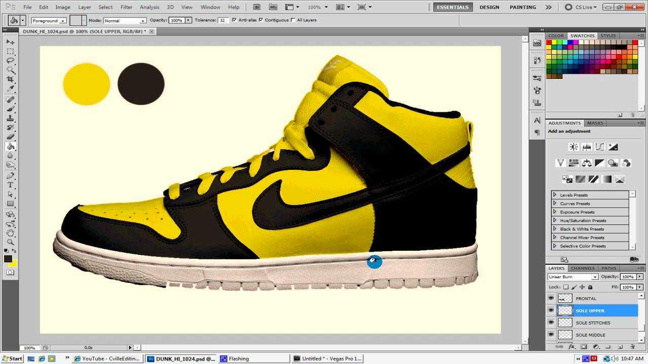 How to design nike shoes in photoshop free template youtube maxwellsz