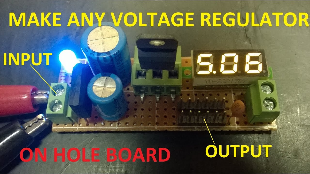 Make Power Supply 5v 6v 8v 12v 15v Om Volt Regulator