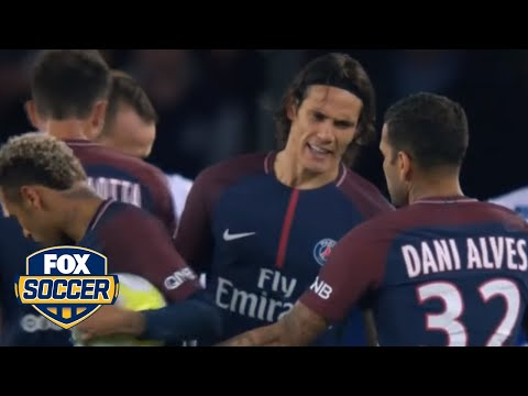 PSG's Neymar and Cavani clashed over free kick and penalty duties against Lyon | FOX SOCCER