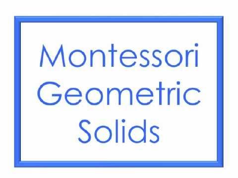 Montessori Geometric Solids - Sensorial Area - YouTube