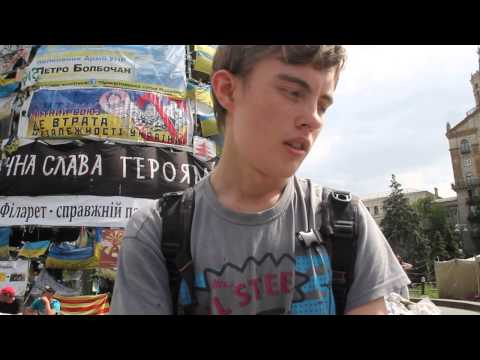 Ukraine 2014 Maidan: Kiev - Man Wants a Lawyer