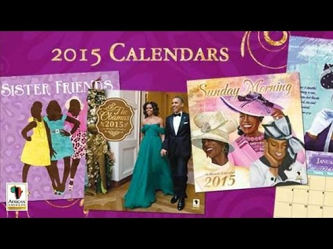 2015 African American Expressions black calendars