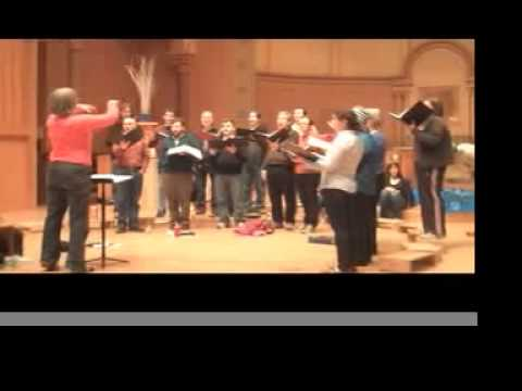 Musica Sacra Rehearses Franz Biebl's Ave Maria