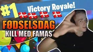 18-ÅRS FØDSELSDAGS WIN! - KILL MED *NY* GUN! (Fortnite)