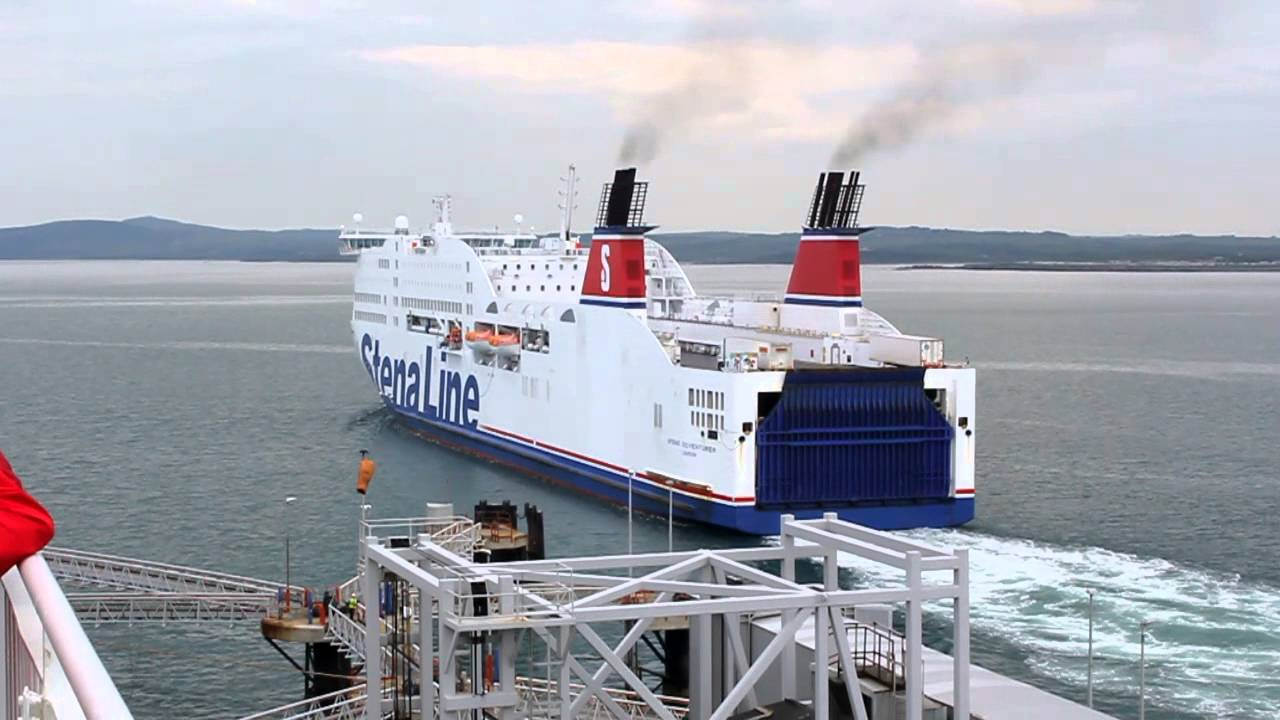 Ferry To Ireland From Holyhead >> Large Stena Line ferry leaving Holyhead, UK for Dublin, Ireland - YouTube