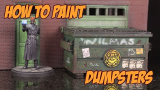 How to paint and detail a Marvel Crisis Protocol Dumpster