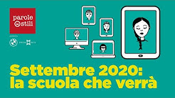 Settembre 2020: la scuola che verrà
