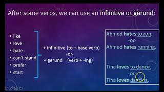 Gerunds and Infinitives Introduction