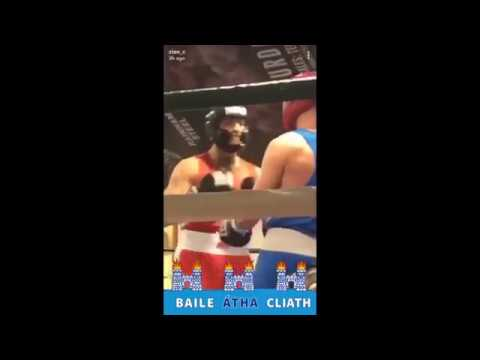 Conor McGregor in exhibition boxing fight highlights