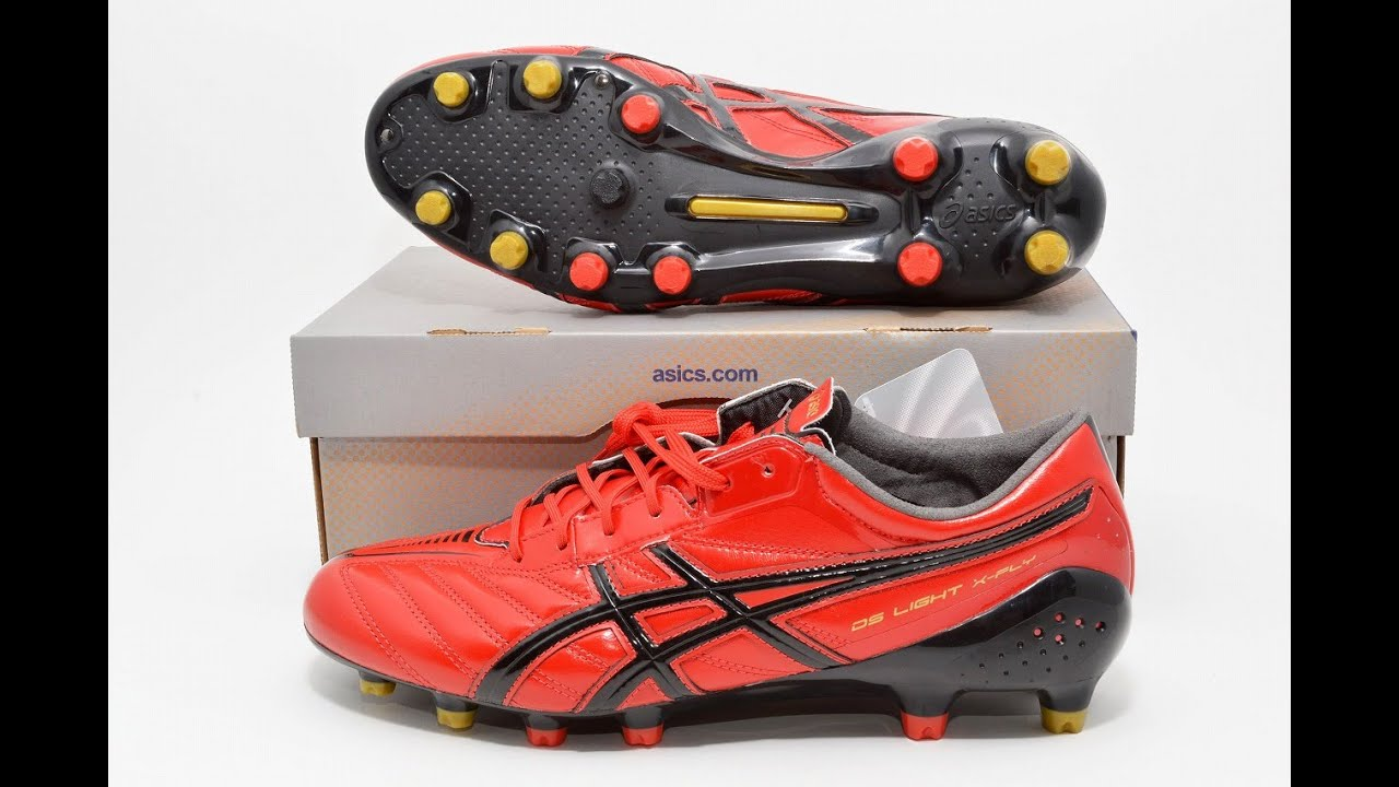 7958ee75d Kangaroo Leather Red ASICS DS LIGHT X-FLY Football Shoes Soccer TSI731 US10  64762
