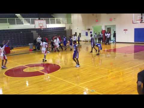 Jordan hitting game winner . Bessie Coleman middle school cedarhill Jordan Nicholas