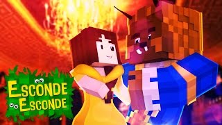 Minecraft: A BELA E A FERA! (Esconde-Esconde)