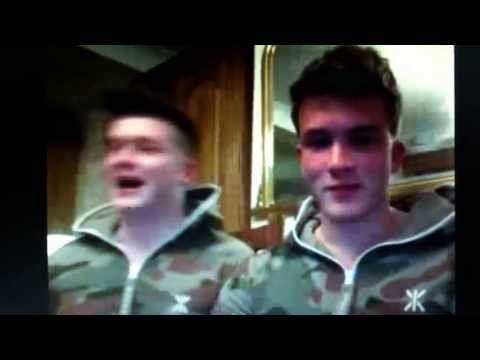 Josh Devine and Joey Cottle singing. X