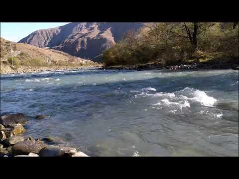Река Аргун у села Итум-Кали | октябрь 2019, туризм в Чечне