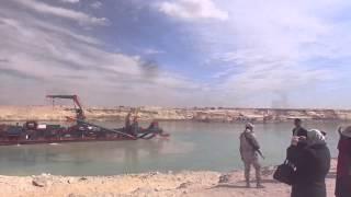 مشهد عام للحفر بالقطاع الاوسط فبراير2015