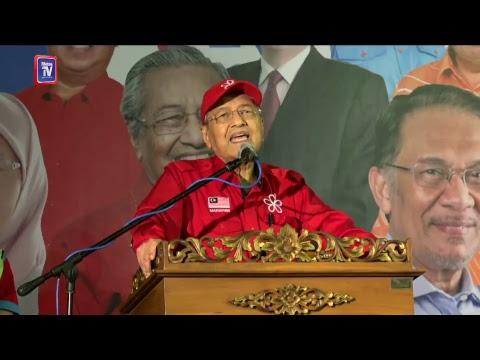 [LIVE] Ceramah mega Tun Dr Mahathir dan Datuk Seri Anwar Ibrahim di PD Waterfront, Port Dickson