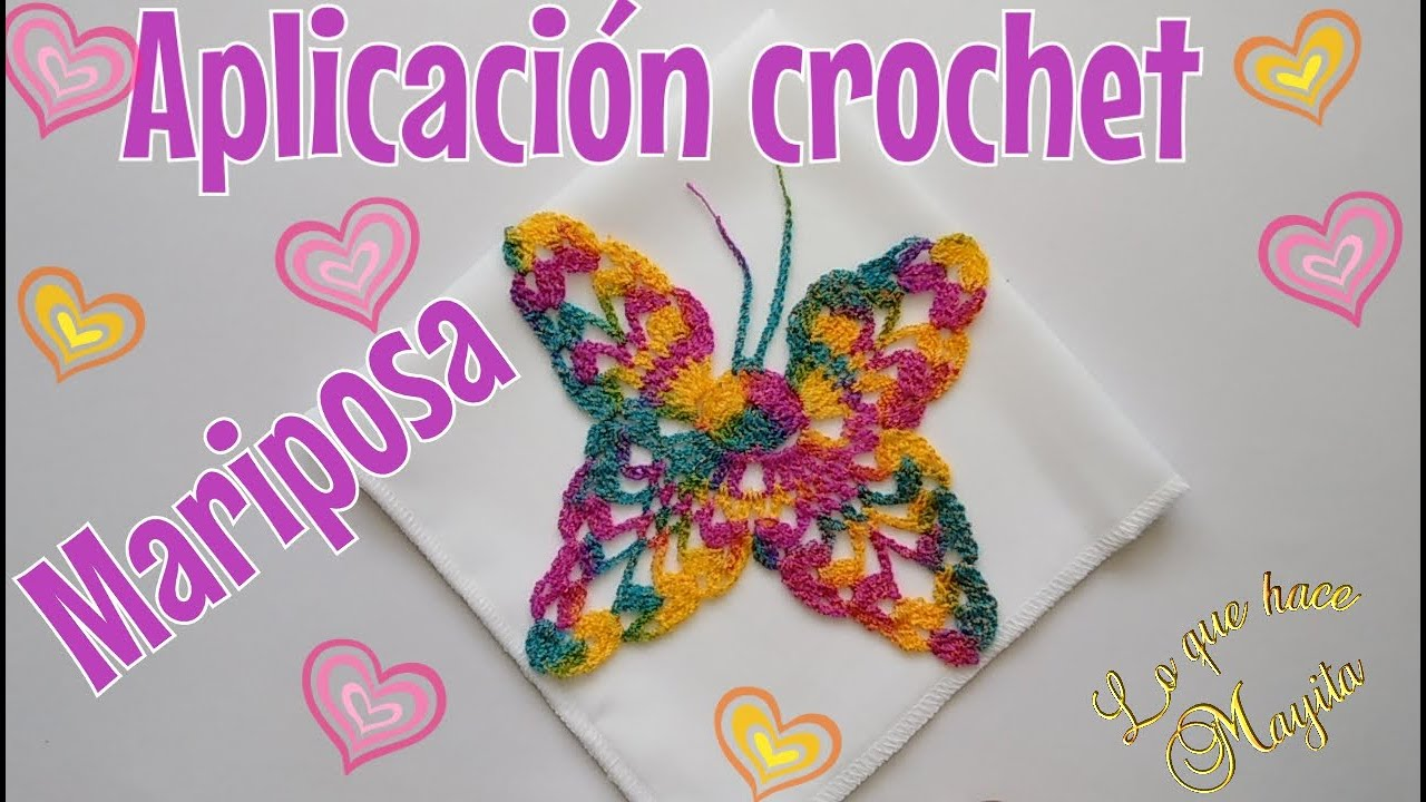 Aplicación para servilleta de mariposa | crochet