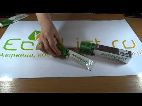 Видео обзор натуральная индийская зубная паста ним-бабул