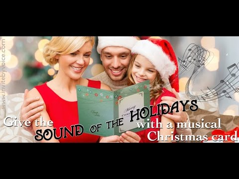 Musical Singing Recordable Christmas Cards